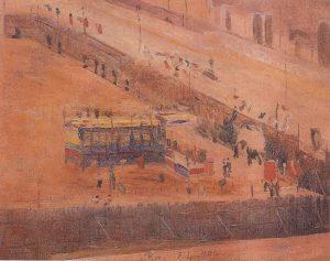INAUGURAÇÃO DA ESCOLA NACIONAL DE BELAS ARTES - OST - 26 x 33 - 1906 - LOCALIZAÇÃO DESCONHECIDA