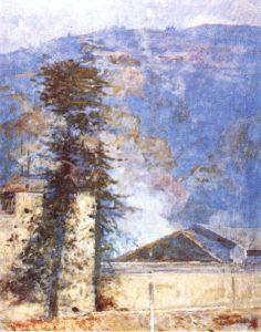 MORRO DE SANTO ANTONIO - OST - 80 x 60 cm - c.1926 - LOCALIZAÇÃO DESCONHECIDA