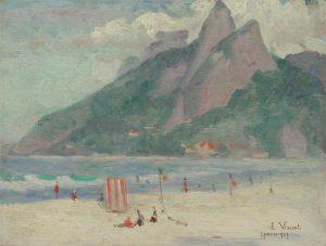 PAISAGEM DE IPANEMA - OSM - 26,0 x 34,5 cm - 1927 - COLEÇÃO PARTICULAR
