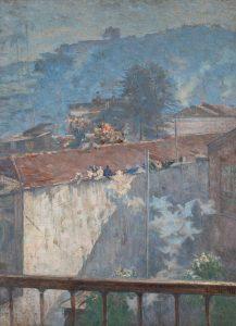 POMBOS DO MEU ATELIER - OST - 100 x 74 cm - 1927 - COLEÇÃO BRADESCO DE ARTE BRASILEIRA/ RJ
