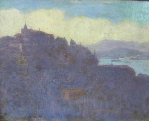 MORRO DO CASTELO - OST - 27 x 34 cm - c.1892 - PINACOTECA RUBEM BERTA/PORTO ALEGRE/RS
