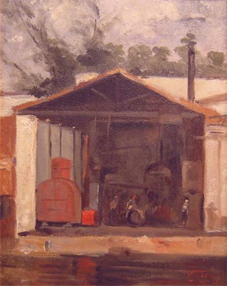 OFICINA NA GAMBOA - OSC - 26 x 21 cm - c.1890 - COLEÇÃO PARTICULAR