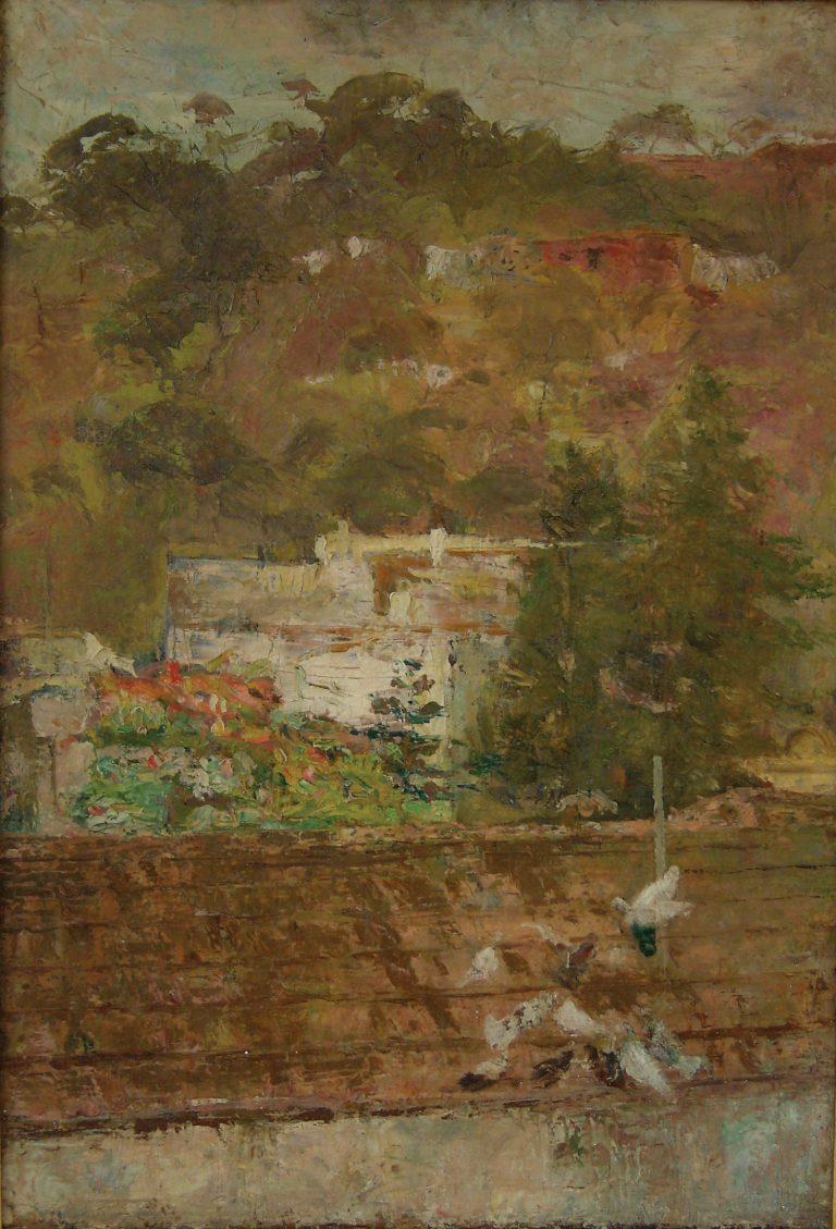 REVOADA DE POMBOS - OST - 73 x 50 cm - c.1926 - MUSEU NACIONAL DE BELAS ARTES - MNBA - RIO DE JANEIRO/RJ