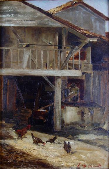 FUNDO DE QUINTAL - OSC - 57,5 x 35,7 cm - c.1890 - COLEÇÃO PARTICULAR
