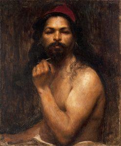 HOMEM COM GORRO VERMELHO - OST - 61 x 50 cm - c.1894 - MUSEU DOM JOÃO VI/ESCOLA DE BELAS ARTES-UFRJ