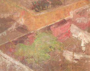 FUNDO DE QUINTAL - OSM - 34 x 46 cm - c.1922 - COLEÇÃO PARTICULAR