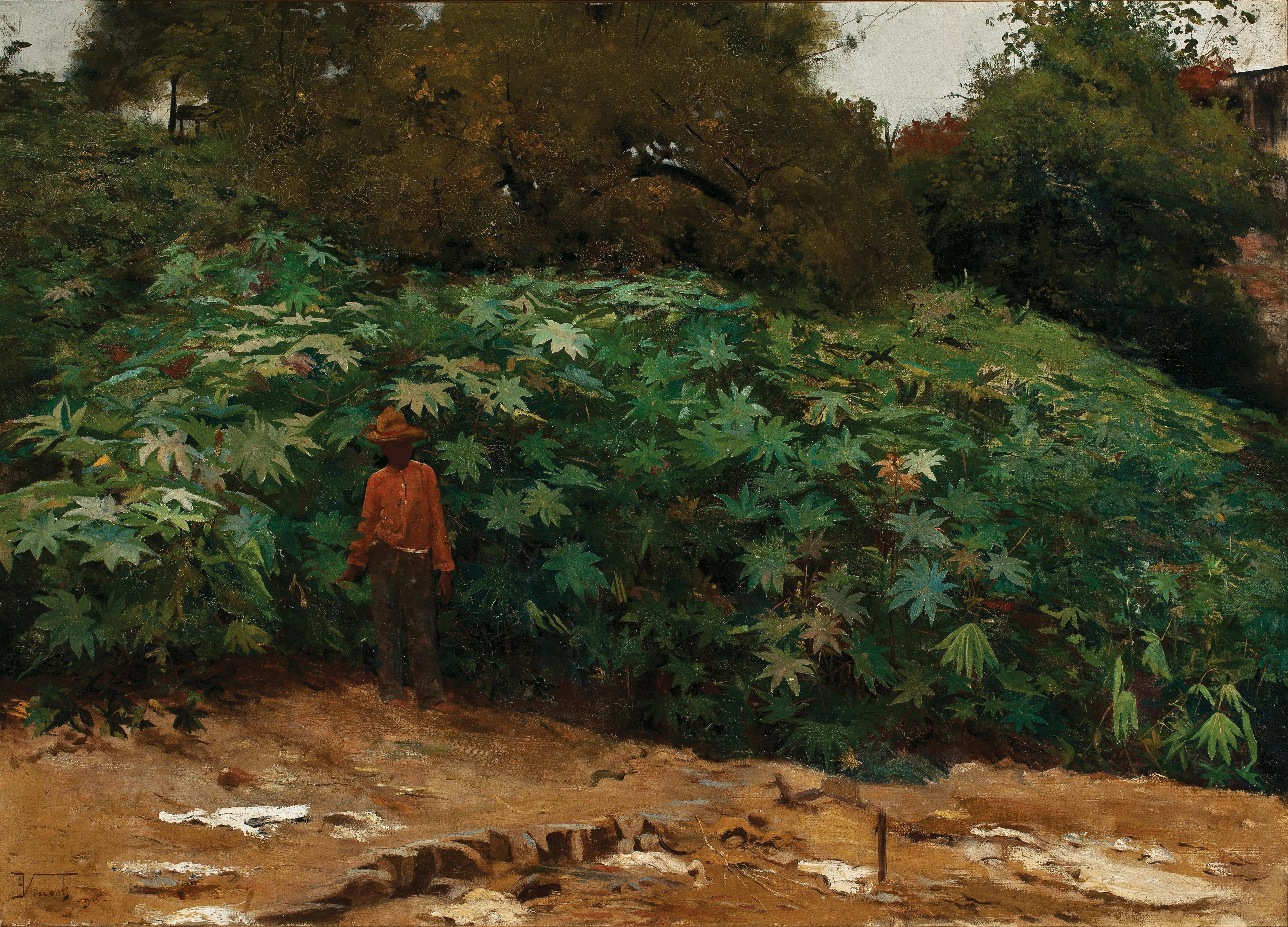 MAMONEIRAS - MORRO DE SÃO BENTO - OST - 62 x 88 cm - 1890 - COLEÇÃO PARTICULAR