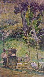 PAISAGEM BRASILEIRA - ÓLEO S/ CARTÃO - 32 x 20 cm - c.1890 - LOCALIZAÇÃO DESCONHECIDA