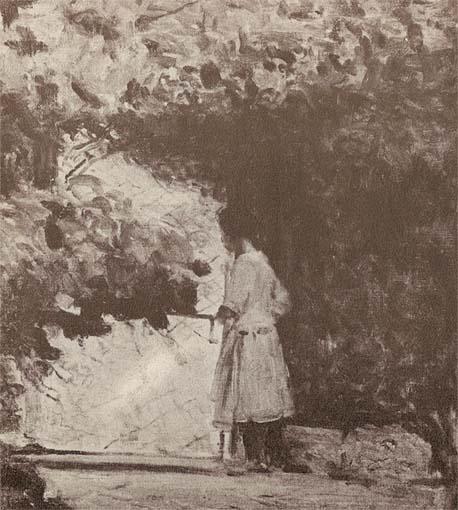 O GALINHEIRO - OST - 34 x 28 - c.1925 - LOCALIZAÇÃO DESCONHECIDA