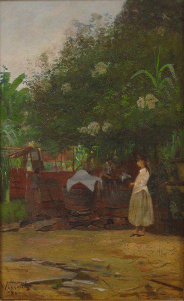 PAISAGEM COM FIGURA - OST - 41 x 26 cm - 1890 - MUSEU NACIONAL DE BELAS ARTES - MNBA - RIO DE JANEIRO/RJ