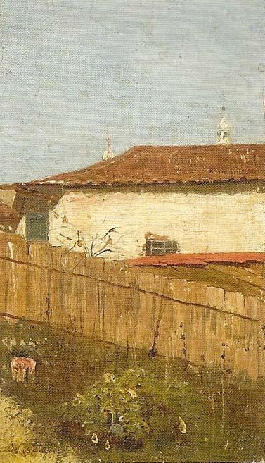 PAISAGEM URBANA - OSM - 20,0 x 11,5 cm - c.1890 - COLEÇÃO PARTICULAR