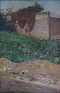 RECANTO COM MAMONEIRAS - OST - 45 x 30 cm - 1890 - MUSEU DA REPÚBLICA/IBRAM/MinC