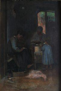 O APRENDIZ DE SAPATEIRO - OST - 60 x 40 cm - 1890 - COLEÇÃO PARTICULAR