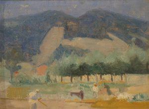 PAISAGEM DE TERESÓPOLIS - OSM - 26 x 34 cm - c.1930 - COLEÇÃO PARTICULAR