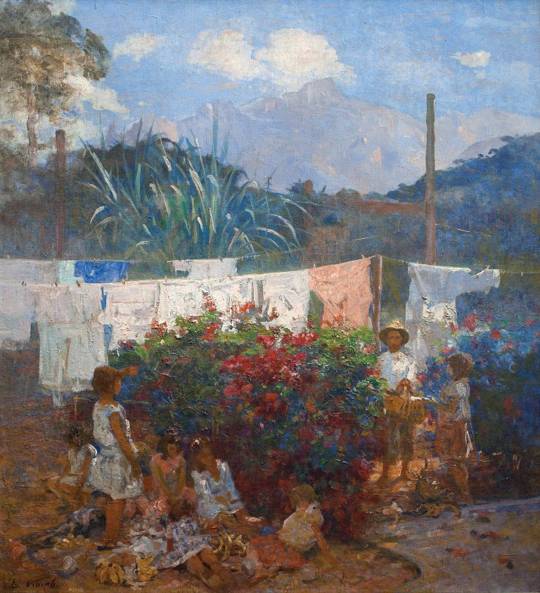O BATISMO DA BONECA - OST - 96 x 87 cm - c.1933 - INSTITUTO CULTURAL CAPOBIANCO, SÃO PAULO, SP