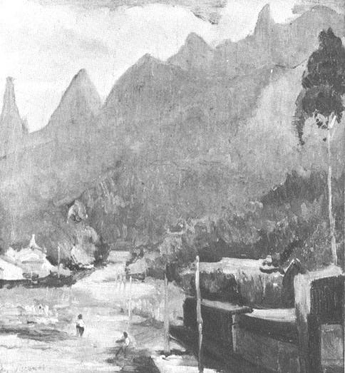 PAISAGEM DE TERESÓPOLIS - OSM - 35 x 26 cm - c.1935 - COLEÇÃO PARTICULAR