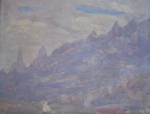 SERRA DE TERESÓPOLIS - OSM - 25 x 34 cm - 1929 - COLEÇÃO PARTICULAR