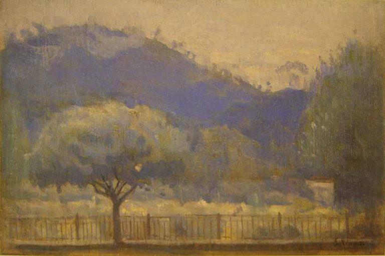 PAISAGEM DE TERESÓPOLIS - OST -34,5 x 51,5 cm - c.1935 - LOCALIZAÇÃO DESCONHECIDA