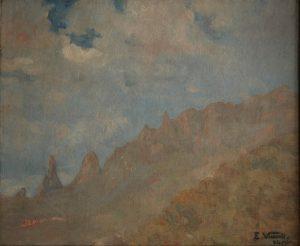 SERRA DE TERESÓPOLIS - OST - 50 x 62 cm - 1930 - EMBAIXADA DO BRASIL EM WASHINGTON