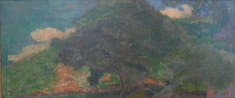 PAISAGEM COM MORRO - OST - 37 x 89 cm - c.1935 - COLEÇÃO PARTICULAR