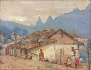 PAISAGEM DE TERESÓPOLIS - OSM - 26 x 34 cm - c.1935 - MUSEU HISTÓRICO DA CIDADE DO RIO DE JANEIRO
