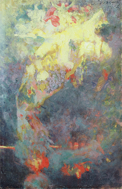 O PROGRESSO - ESTUDO PARA O PAINEL DA BIBLIOTECA NACIONAL - OSM - 22 x 14 cm - c.1910 - COLEÇÃO PARTICULAR
