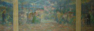 DEVERES DA CIDADE - ESTUDO PARA O TRÍPTICO DA CÂMARA MUNICIPAL - PALÁCIO PEDRO ERNESTO - OST - 81 x 100 cm - 1920 - MUSEU HISTÓRICO DA CIDADE DO RIO DE JANEIRO - RJ