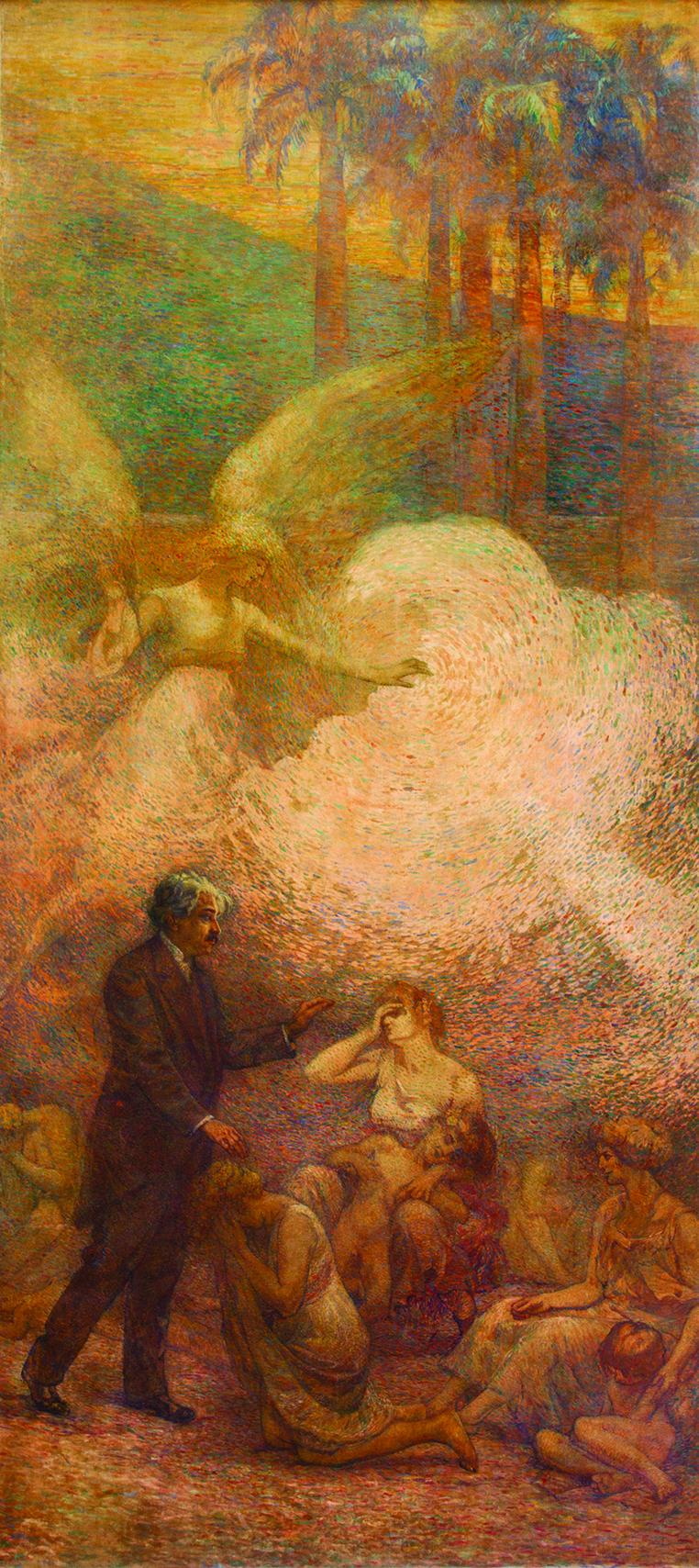 DEVERES DA CIDADE (PAINEL ESQUERDO DO TRÍPTICO) - OSWALDO CRUZ - OST - 5,00 x 2,15 m - 1923 - PALÁCIO PEDRO ERNESTO - RIO DE JANEIRO/RJ