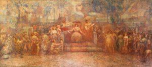 DEVERES DA CIDADE (PAINEL CENTRAL DO TRÍPTICO) - OST - 5,00 x 10,70 m - 1923 - PALÁCIO PEDRO ERNESTO - RIO DE JANEIRO/RJ