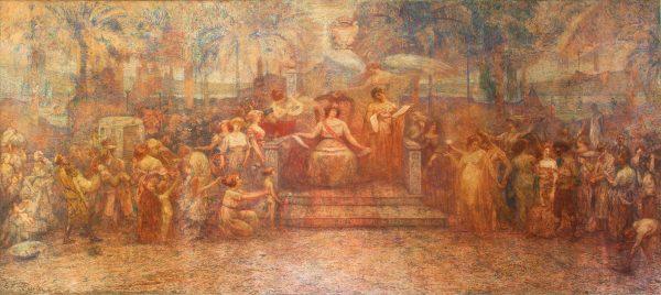 DEVERES DA CIDADE - TRÍPTICO DA CÂMARA MUNICIPAL - PAINEL CENTRAL - OST - 5,00 x 10,70 m - 1923 - PALÁCIO PEDRO ERNESTO - RIO DE JANEIRO/RJ