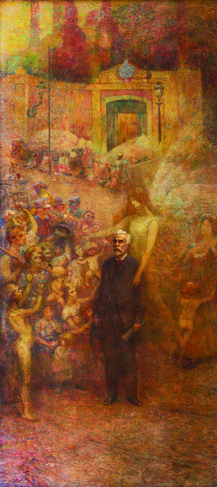 DEVERES DA CIDADE (PAINEL DIREITO DO TRÍPTICO) - PEREIRA PASSOS - OST - 5,00 x 2,15 m - 1923 - PALÁCIO PEDRO ERNESTO - RIO DE JANEIRO/RJ
