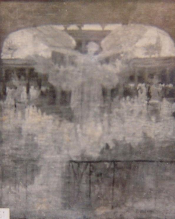 A INFLUÊNCIA DAS ARTES SOBRE A CIVILIZAÇÃO - PRIMEIRO ESTUDO PARA O PANO DE BOCA DO THEATRO MUNICIPAL DO RIO DE JANEIRO - OST - 40 x 34 cm - c.1905 - LOCALIZAÇÃO DESCONHECIDA