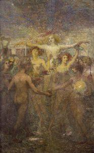 INSTRUÇÃO (SOLIDARIEDADE HUMANA) - PAINEL DA BIBLIOTECA NACIONAL - OST - 2,92 x 1,85 m - c.1910 - FUNDAÇÃO BIBLIOTECA NACIONAL - RIO DE JANEIRO/RJ