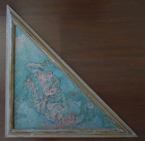 ALEGORIA AO DRAMA - ESTUDO PARA O TRIÂNGULO DO TETO DO THEATRO MUNICIPAL DO RIO DE JANEIRO - OST - 60 x 43 x 43 cm - c.1906 - COLEÇÃO PARTICULAR