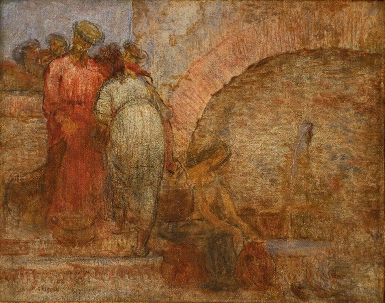 NA FONTE - OST - 33 x 41 cm - 1898 - COLEÇÃO PARTICULAR