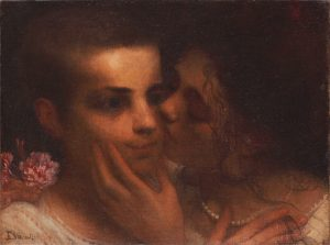 O BEIJO - OST- 24,0 x 32,5 cm - 1898 - COLEÇÃO PARTICULAR