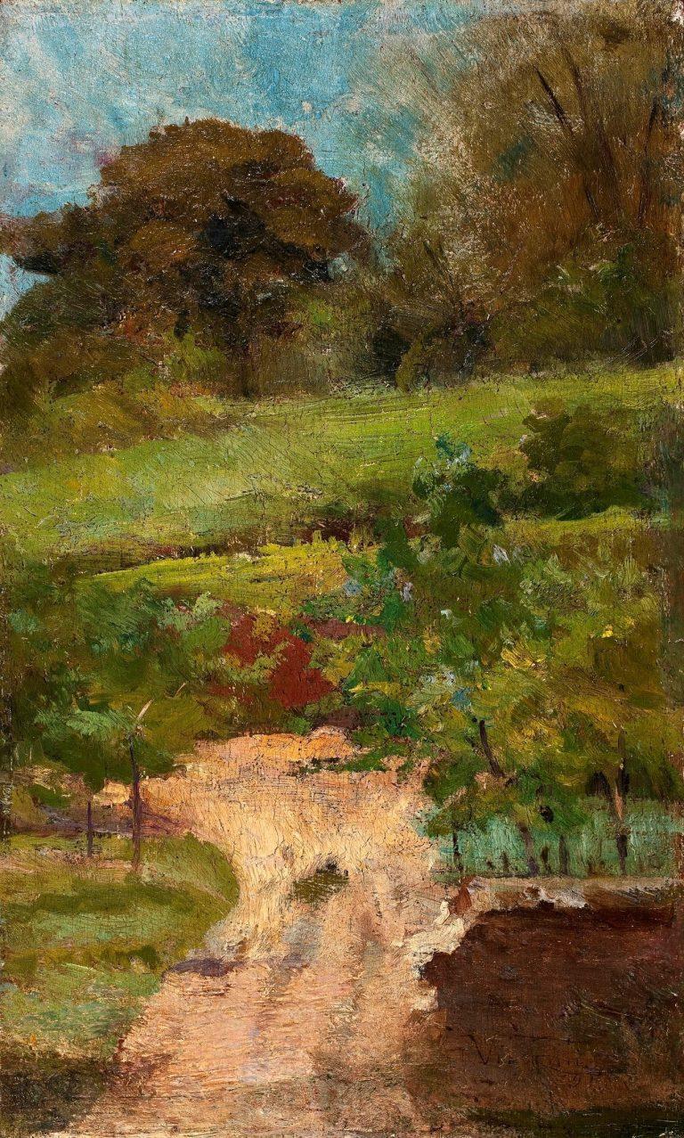 PAISAGEM - OST - 21 x 13 cm - 1891 - COLEÇÃO PARTICULAR