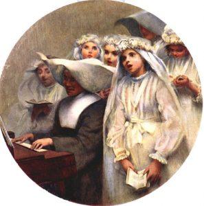 COMUNGANTES - OST - d:90,5 cm - 1895 - LOCALIZAÇÃO DESCONHECIDA