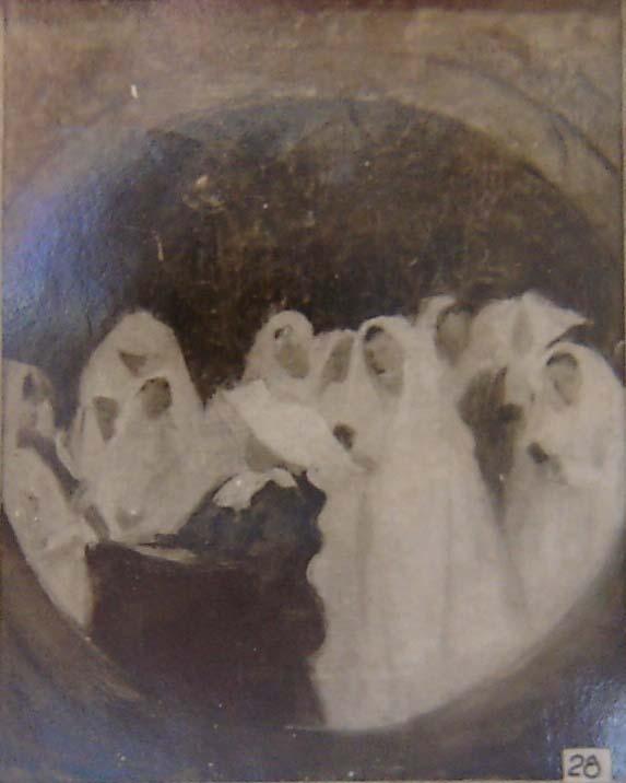 COMUNGANTES - ESTUDO - OST - 40 x 32 cm - 1895 - LOCALIZAÇÃO DESCONHECIDA