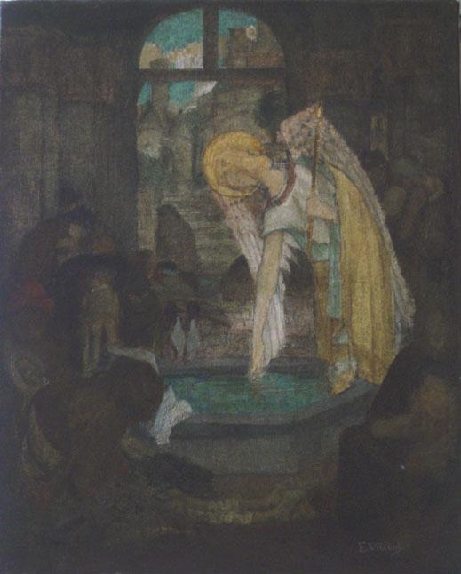 ANJO NA CISTERNA - OST - 40,0 x 32,5 cm - c.1898 - COLEÇÃO PARTICULAR