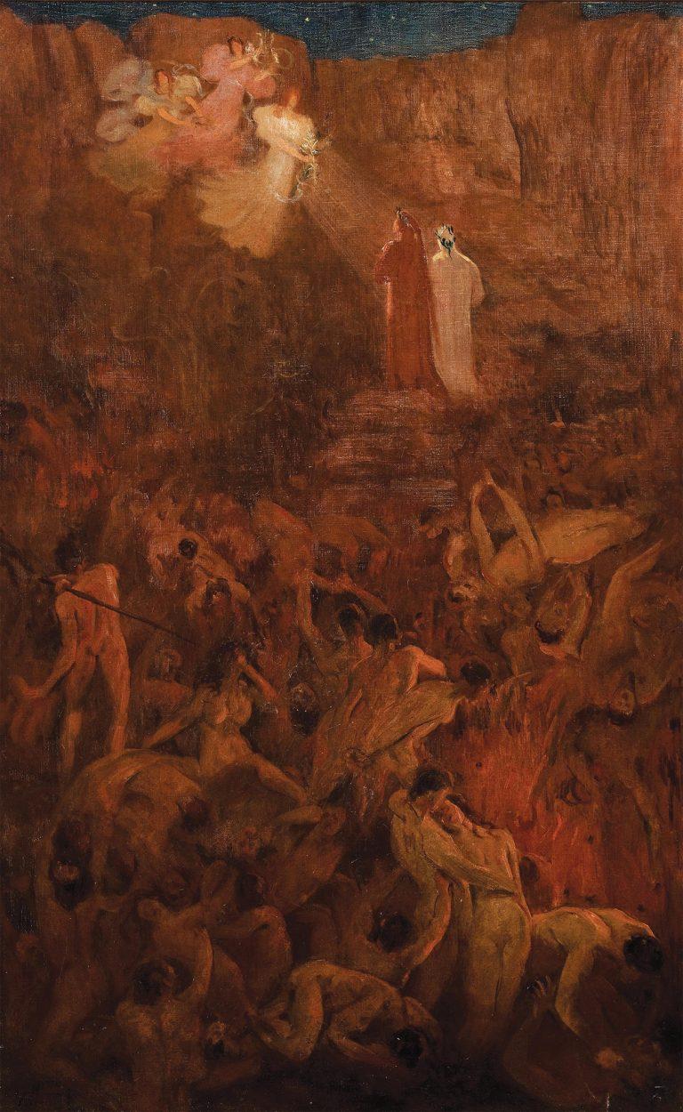 SAÍDA DA VIDA PECAMINOSA - OST - 100 x 62 cm - 1896 - MUSEU NACIONAL DE BELAS ARTES - MNBA - RIO DE JANEIRO/RJ