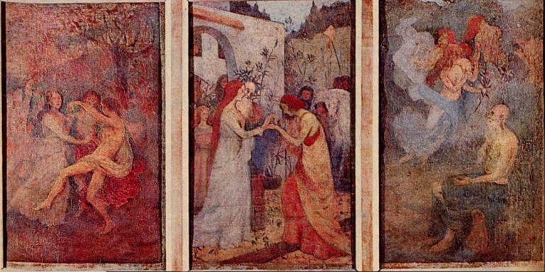 TRÊS FASES DA VIDA - TRÍPTICO - OST - 58 x 110 cm - c.1899 - LOCALIZAÇÃO DESCONHECIDA