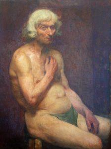 VELHO SENTADO - OST - 98,6 x 72,4 cm - 1894 - MUSEU DOM JOÃO VI/ESCOLA DE BELAS ARTES-UFRJ