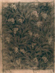 FLORES - ESTUDO PARA PAPEL DE PAREDE - CRAYON/PAPEL - 63 x 48 cm - c.1901 - COLEÇÃO PARTICULAR