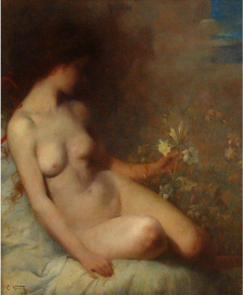 SONHO MÍSTICO - OST - 101 x 81 cm - 1897 - MUSEU DE BELAS ARTES DE SANTIAGO DO CHILE