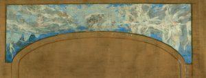 AS NOVE MUSAS RECEBEM AS ONDAS SONORAS - ESTUDO PARA O SEGUNDO FRISO DO PROSCÊNIO DO THEATRO MUNICIPAL DO RIO DE JANEIRO - OST - 58 x 140 cm - c.1934 - COLEÇÃO PARTICULAR