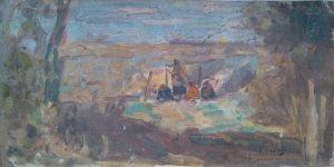 FIGURAS NA CERCA - OST - 17,0 x 33,5 cm - c.1914 - COLEÇÃO PARTICULAR