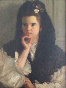 UMA MADRILENA - OST - 64 x 46 cm - c.1895 - COLEÇÃO PARTICULAR