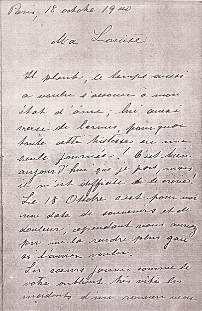 CARTA DE VISCONTI A LOUISE EM 1900