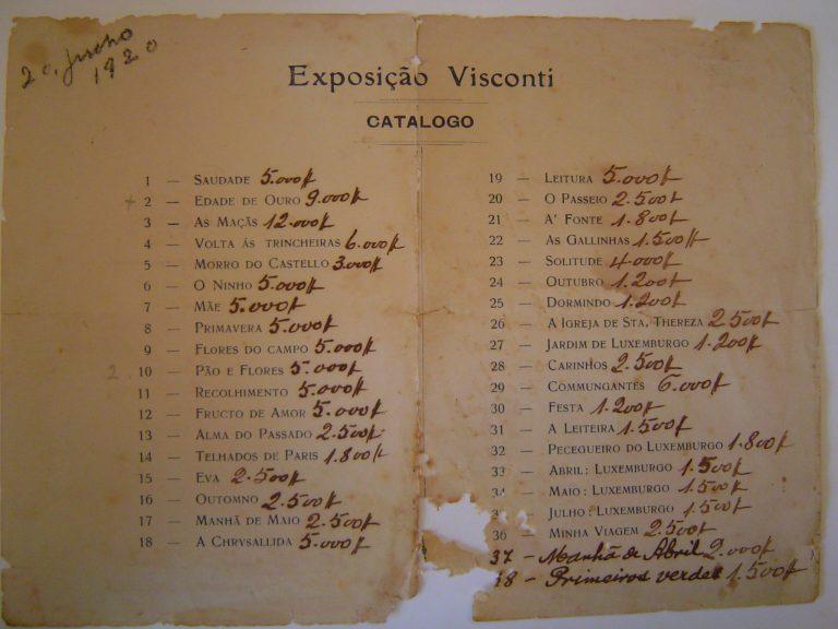 CATÁLOGO DA EXPOSIÇÃO DE 1920